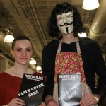 Had to get a shot of the V for Vendetta crew with our book. They're so convincing!